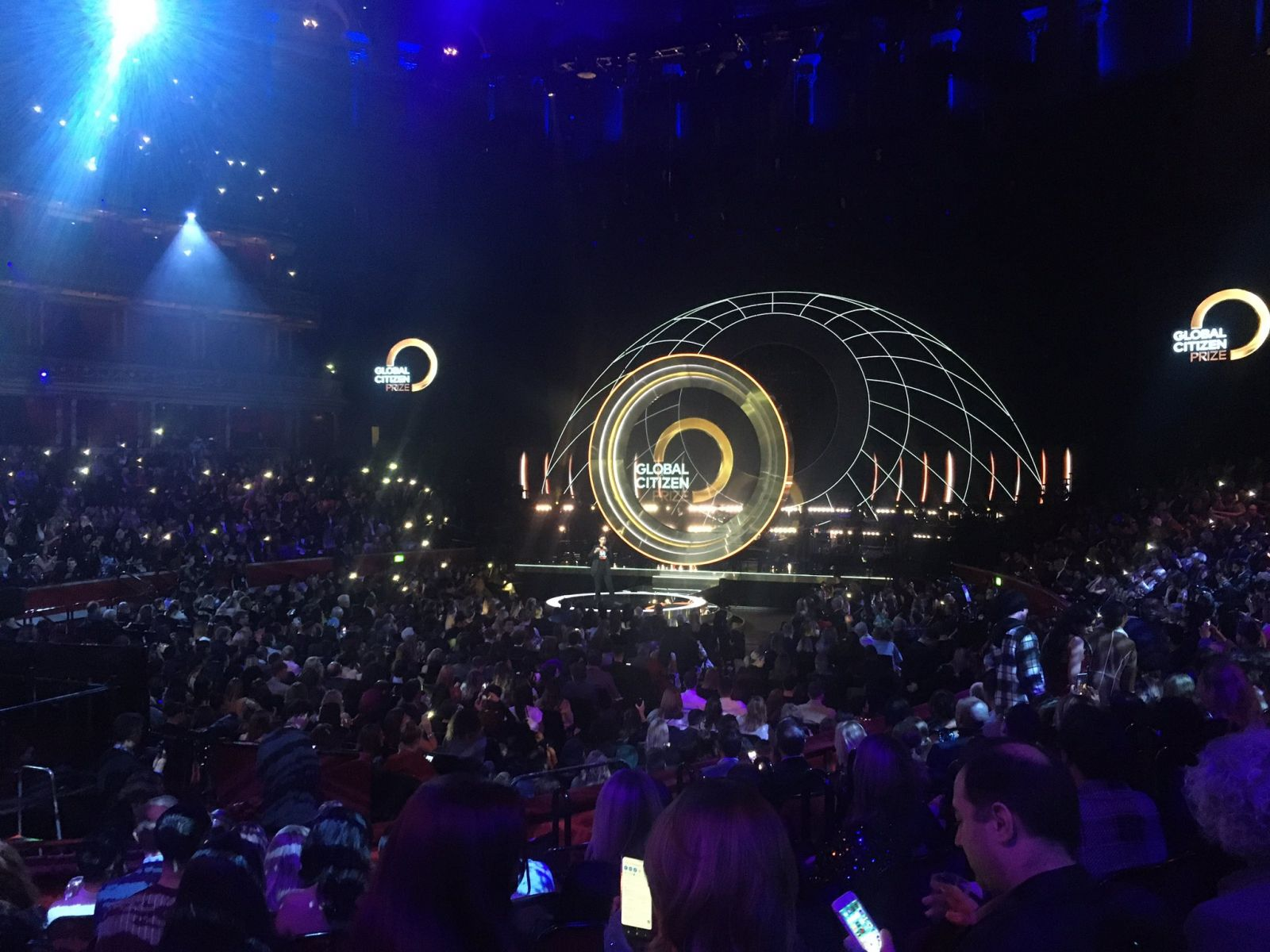 Stage view of the Global Citizen Prize ceremony