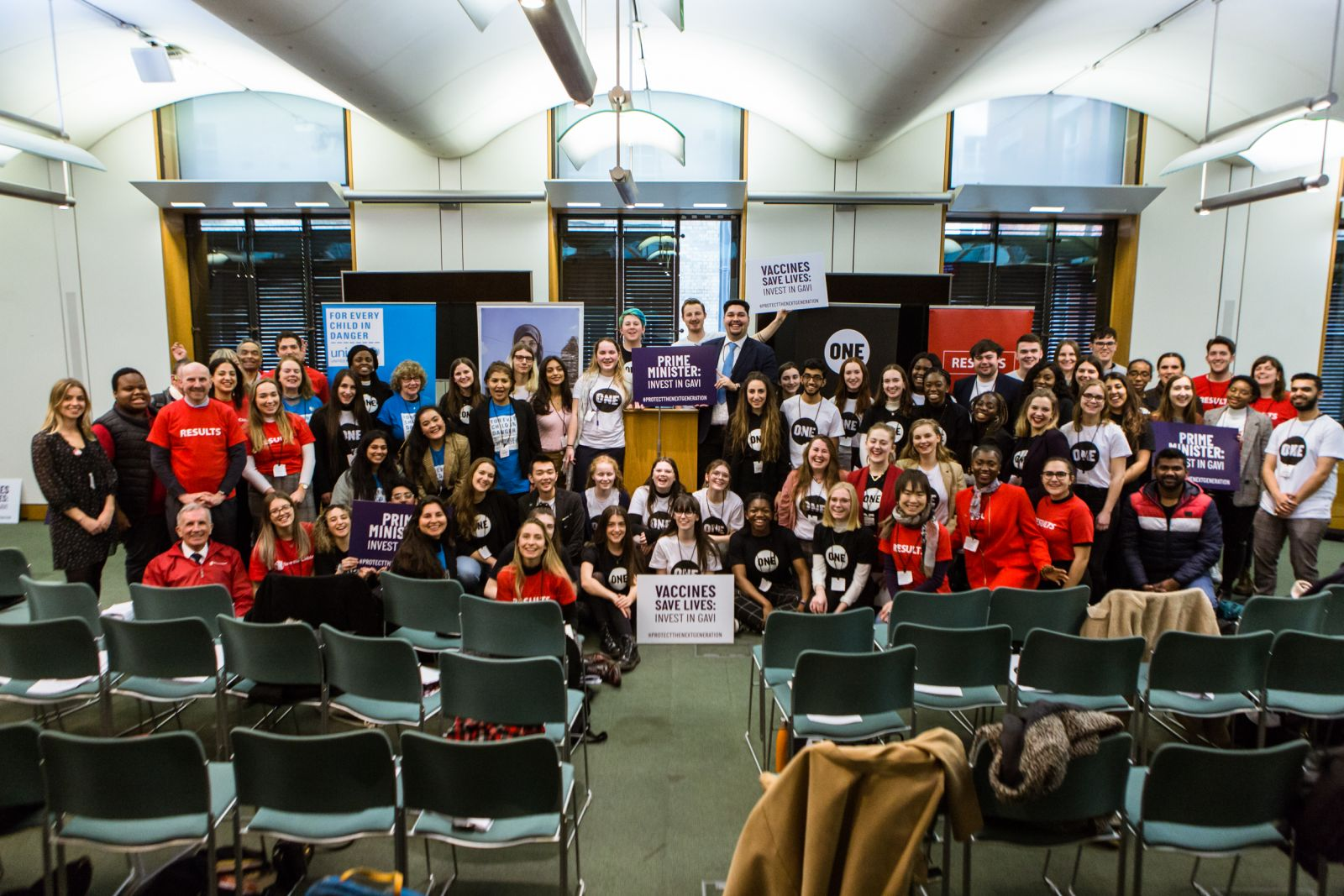 Group photo of advocates from all the organisations together in Portcullis House