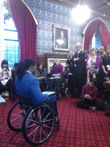 Ade Adepitan, Paralympian and TV Presenter, speaks in Parliament