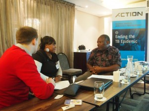 Alan Ragi, KANCO director (Kenya) with participants from South Africa & the UK